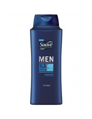 Suave Men 2 In 1 Shampoo + Conditioner, Ocean Charge 28 oz (3 Pack)