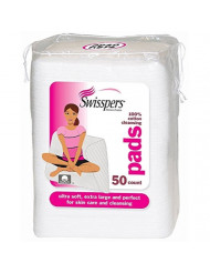 Swisspers Premium Ultra Soft Facial Cleansing Cotton Pads 50 ea (Pack of 12)