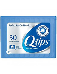 Q-tips Swabs Purse Pack 30 Each (Pack of 4)