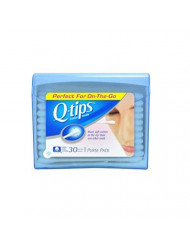Q-tips Swabs Purse Pack 30 Each (Pack of 11)