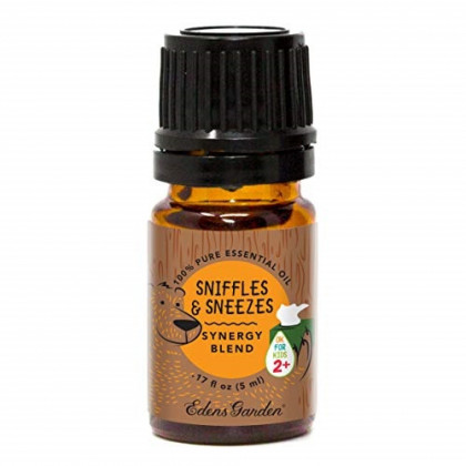 """Edens Garden Sniffles & Sneezes""""OK For Kids"""" Essential Oil Synergy Blend, 100% Pure Therapeutic Grade (Child Safe 2+, Cold Flu & Congestion), 5 ml"""