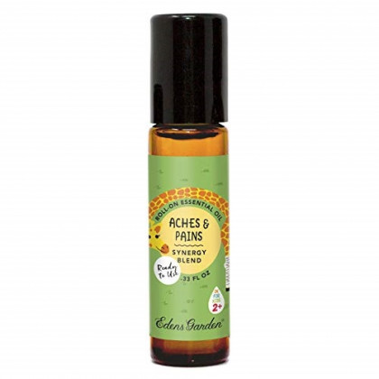 """Edens Garden Aches & Pains""""OK For Kids"""" Essential Oil Synergy Blend, 100% Pure Therapeutic Grade (Child Safe 2+, Pre-Diluted & Ready To Use- Massage & Pain), 10 ml Roll-On"""