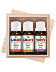 Plant Therapy Essential Oils KidSafe Wellness Sampler Boxed Set Includes Germ Destroyer, Immune Boom, Sniffle Stopper 100% Pure, Undiluted, Natural Aromatherapy 10 mL (1/3 oz)