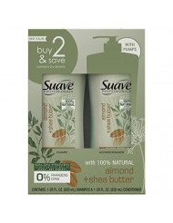 Suave Professionals Moisturizing Shampoo and Conditioner, Almond + Shea Butter, 28 oz, (Twin Pack)