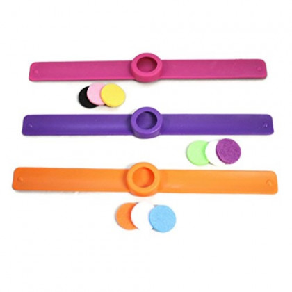 Destination Oils Kids Essential Oil Diffuser 3 Slap Bracelet Sweet Set - Pink, Orange, Purple- Girls- Safe for Children