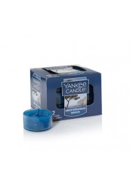 Yankee Candle Mediterranean Breeze Tea Light Candles, Fresh Scent,Blue