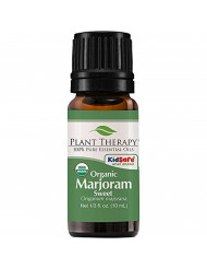 Plant Therapy Marjoram Sweet Organic Essential Oil 10 mL (1/3 oz) 100% Pure, Undiluted, Therapeutic Grade