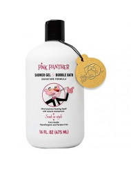 Pink Panther Luxury Bubble Bath and Shower Gel for All Ages, Premium Signature Pink Formula, Soak in Style.