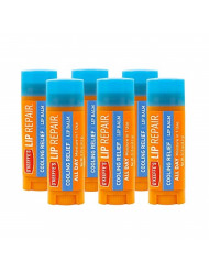 O'Keeffe's Cooling Relief Lip Repair Lip Balm for Dry, Cracked Lips, Stick, (Pack of 6)