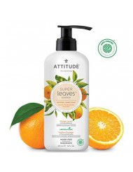 ATTITUDE Super Leaves, Hypoallergenic Hand Soap, Orange Leaves, 16 Fluid Ounce