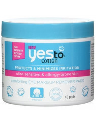 Yes To Cotton Comforting Eye Makeup Remover Pads, 45 Count