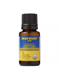 Desert Essence Organic Essential Oil - Dream Weaver - Sleep - .5 Fl Oz - Freshens Air - Clarifying Scent - Promotes Feelings of Tranquility - Tea Tree, Lavender, Bergamot Oil - Diffuser