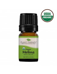 Plant Therapy Melissa Organic Essential Oil 100% Pure, USDA Certified Organic, Undiluted, Natural Aromatherapy, Therapeutic Grade 5 mL (1/6 oz)