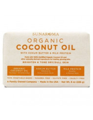 Sunaroma Soap Bar Coconut 8 Ounce (236ml) (6 Pack)