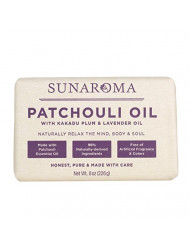 Sunaroma Soap Bar Patchouli Oil 8 Ounce (236ml) (6 Pack)