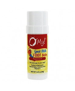 O My! Goat Milk Body Balm 2.25oz - Peppermint | Experience O My! Softness All Over | Antioxidant Vit E | Excellent for all Skin Types | Leaping Bunny Certified | Made in USA