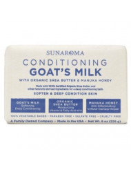 Sunaroma Conditioning Goat's Milk Bar Soap, 8 Ounce (Pack of 3)