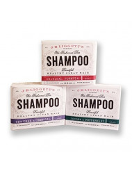 J.R.LIGGETT'S All-Natural Shampoo Bars - Original, Tea Tree & Hemp Oil, Jojoba & Peppermint Nourishes Follicles with Antioxidants and Vitamins - Sulfate-Free, Set of Three, 3.5 Ounce Bars
