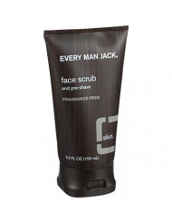 Every Man Jack Face Scrub and Pre Shave - Fragrance Free - 5 oz (Pack of 3)