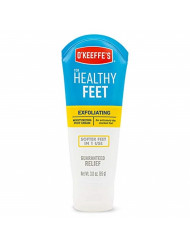 O'Keeffe's K0400008 Healthy Feet Exfoliating Foot Cream, 3 ounce Tube