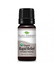 Plant Therapy Rapid Relief Organic Synergy Essential Oil 10 mL (1/3 oz) 100% Pure, Undiluted, Therapeutic Grade