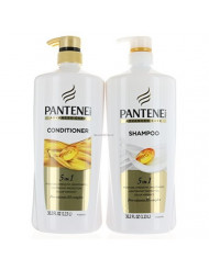 Set Pantene Advanced Care Shampoo and Conditioner 5 in 1 Moisture, Strength, Smoothness, Pro-vitamin B5 Complex 38.2 FL/OZ each - Packaging May Vary
