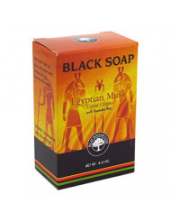 Sunaroma Black Soap Egyptian Musk 4.25 Ounce Boxed (125ml) (6 Pack)