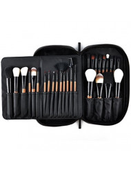 Makeup Brushes MSQ 28pcs Professional Beauty Brushes Sets with Luxury Makeup Bag (Foundation, Powder, Eyeshadow, Blush, Blending, Creams & Lip Brush) Best for Gift - Brown