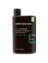Every Man Jack Shampoo 2-In-1 Anti-Dandruff 13.5 Ounce (400ml) (3 Pack)