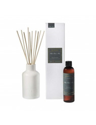 White Teak and Moss Aromatique Glass Vessel Reed Diffuser Set