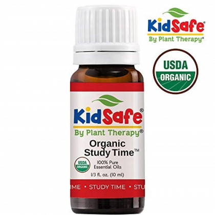 Plant Therapy Kidsafe Study Time Organic Synergy Essential Oil (Formally A+ Attention) 10 mL (1/3 oz) 100% Pure, Undiluted, Therapeutic Grade