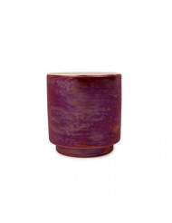 Paddywax Candles Glow Collection Scented Soy Wax Blend Candle in Iridescent Ceramic Pot, Medium- 17 Ounce, Cranberry & Rose