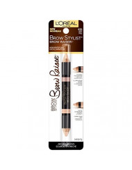 L'Oreal Paris Cosmetics Stylist Brow Raiser Highlighter Duo, Light, 0.16 Ounce