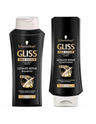 GLISS Hair Repair Ultimate Repair Set with Shampoo and Conditioner for Damaged Hair, Set of 2