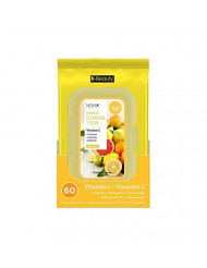 Nicka K Makeup Cleansing Tissue Vitamin C 60 wipes per pack Paraben Free Made in Korea