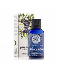 Woolzies Juniper Berry Essential Oil 1 Oz - , Natural Skin Toner, Cleanser, Detoxifying, Calming Effect - For Diffusion, Topical & Aromatherapy Use