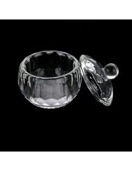 [US Seller,Ship from CA,US] anmas rucci 2Pcs Round Crystal Glass Dappen Dish for Nail Art