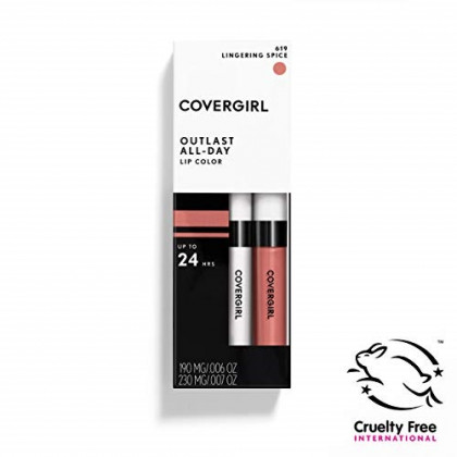 COVERGIRL Outlast All-Day Moisturizing Lip Color, Lingering Spice, 1-Count (Pack of 1)