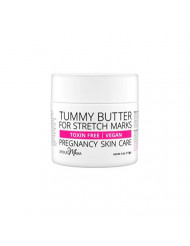 Tummy Butter Stretch Mark Prevention Cream - Safe for Pregnancy - C-Section Scar Lotion for Dry Pregnancy Skin - Pure Cocoa Butter & Shea Butter - Toxin Free - Safe for Pregnancy - Vegan - 4 oz