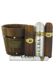 Cuba Gold Cologne, Gift Set - 3.4 oz Eau De Toilette Spray + 1.17 oz Eau De Toilette Spray + 6.7 oz Body Spray + 3.3 oz After Shave