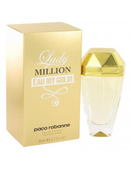 Lady Million Eau My Gold Perfume by Paco Rabanne, 2.7 oz Eau De Toilette Spray