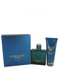 Versace Eros Cologne by Versace, Gift Set - 3.4 oz Eau De Toilette Spray + 3.4 oz Shower Gel