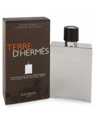 Terre D'hermes Cologne By Hermes Eau De Toilette Spray Refillable (Metal) For Men 5 oz