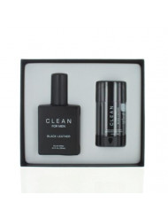 Clean Black Leather By Clean 2 Piece Gift Set - 3.4 Oz Eau De Toilette Spray, 2.6 Oz Moisture Absorbent Deodorant, Men