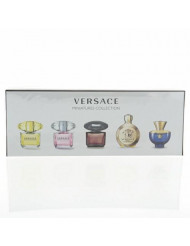 Versace Variety Mini Set By Versace 5 Piece Gift Set - 0.17 Oz Eau De Toilette Crystal Noir, 0.17 Oz Eau De Toilette Bright Crystal , 0.17 Oz Eau De Toilette Yellow Diamond, 0.17 Oz Eau De Parfum Eros, 0.17 Oz Eau De Parfum Dylan Blue, Women