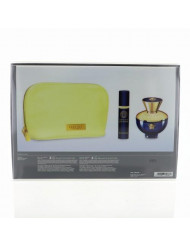 Versace Dylan Blue By Versace 3 Piece Gift Set - 3.4 Oz Eau De Parfum Spray, 0.3 Oz Eau De Parfum, Pouch, Women