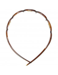 Caravan Wave Headband with Deep Teeth in Tortoise Shell Color of Celluloid Acetate