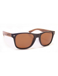 Nylon front with natural Rosewood temples - Woodie m.tort/zebrawood/brown