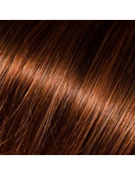 Full Head Human Clip-In 4/33 (Dark Auburn Brown)