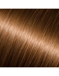 Full Head Human Clip-In 8 (Light Chestnut Brown)